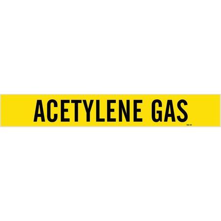 Pipe Marker, Acetlyene Gas, 8 In orGreater