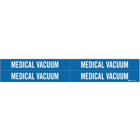 Pipe Marker, Medical Vacuum, 3/4to2-3/8 In