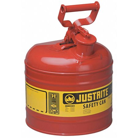 Type I Safety Can, 2 gal., Red, 13-3/4In H
