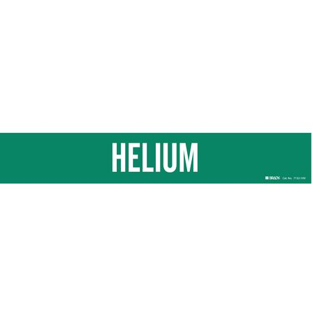 Pipe Marker, Helium, Green, 8 In or Greater