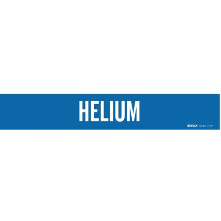 Pipe Marker, Helium, Blue, 2-1/2 to7-7/8 In