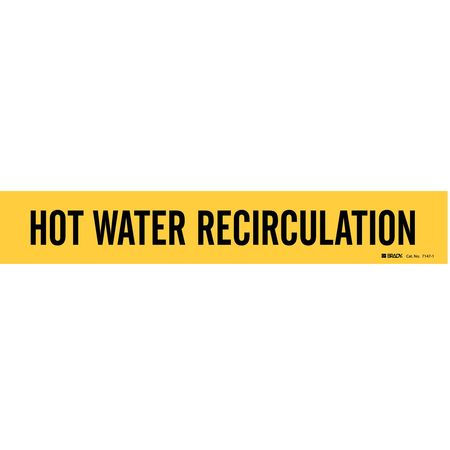 Pipe Marker, Hot Water Recirculation, Yel