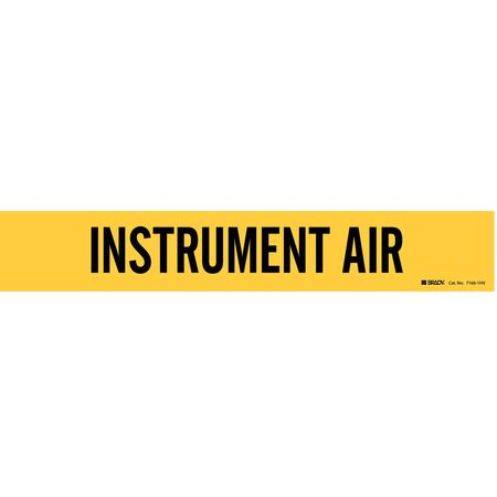 Pipe Marker, Instrument Air, Y, 8 In orGrtr