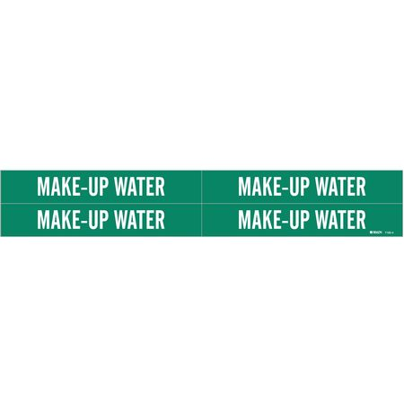 Pipe Marker, Make Up Water, 3/4to2-3/8 In