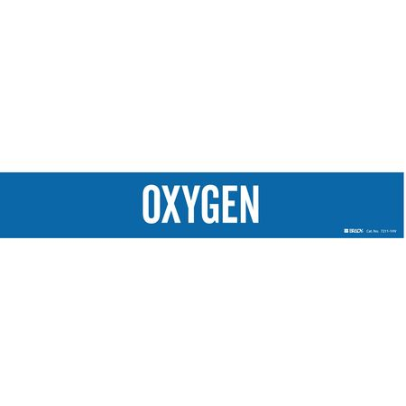 Pipe Marker, Oxygen, Blue, 8 In or Greater