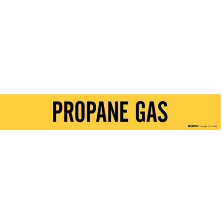 Pipe Marker, Propane Gas, Y, 8 In orGreater