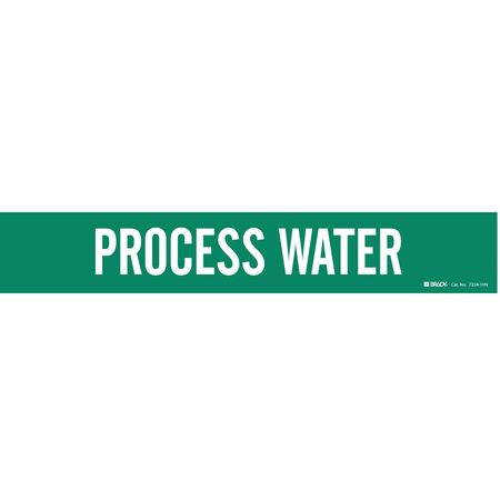 Pipe Marker, Process Water, Gn, 8 In orGrtr
