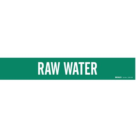 Pipe Marker, Raw Water, Gn, 8 In or Greater