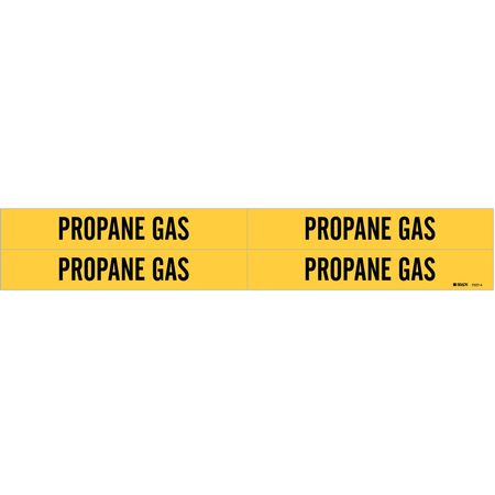 Pipe Marker, Propane Gas, Y, 3/4 to2-3/8 In