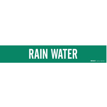 Pipe Marker, Rain Water, Gn, 8 In orGreater