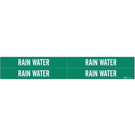 Pipe Marker, Rain Water, Gn, 3/4 to2-3/8 In
