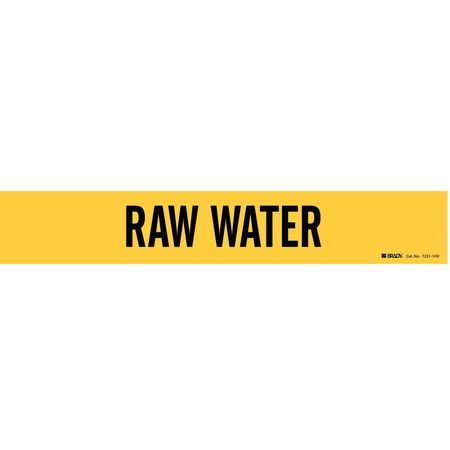 Pipe Marker, Raw Water, Y, 8 In or Greater