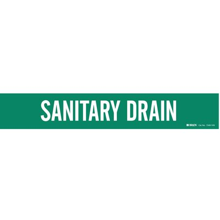 Pipe Markr, Sanitary Drain, Gn, 8 In orGrtr