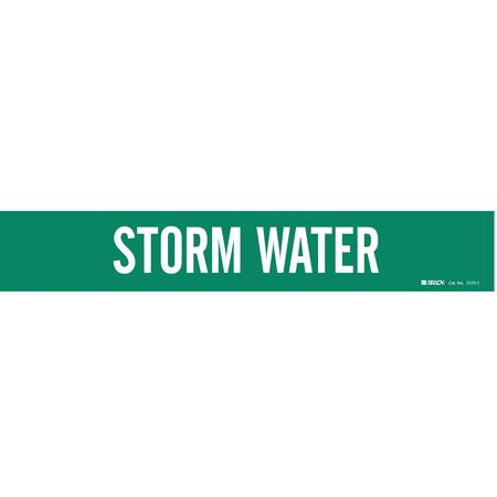 Pipe Marker, Storm Water, 2-1/2to7-7/8 In