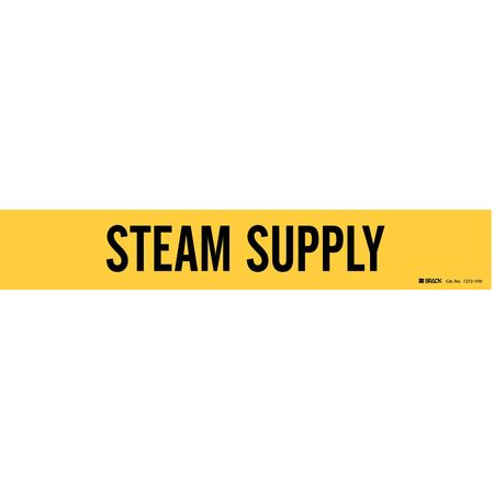 Pipe Marker, Steam Supply, 2-1/2to7-7/8 In