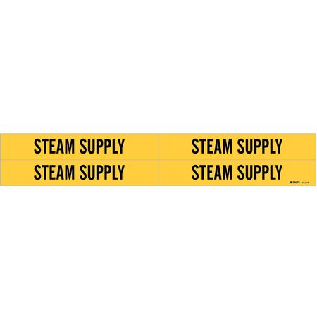 Pipe Marker, Steam Supply, Y, 3/4to2-3/8 In