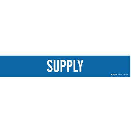 Pipe Marker, Supply, Blue, 8 In or Greater