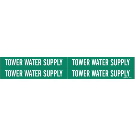 Pipe Mrkr, Tower Water Supply, 3/4 to2-3/8
