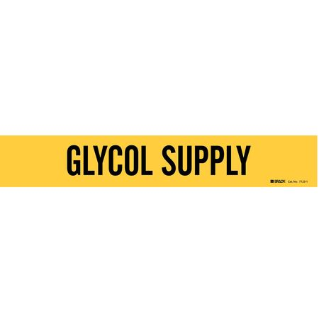 Pipe Marker, Glycol Suppl2-1/2to7-7/8 In