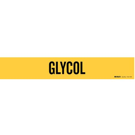 Pipe Marker, Glycol, Yel, 8 In or Greater