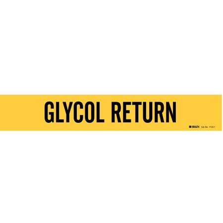 Pipe Markr, Glycol Return, 2-1/2to7-7/8 In