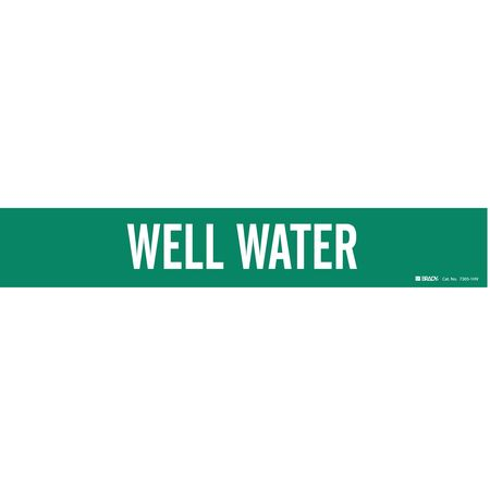 Pipe Marker, Well Water, Gn, 8 In orGreater