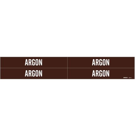 Pipe Marker, Argon, Brown, 3/4 to 2-3/8 In