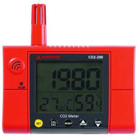 Carbon Dioxide Meter, 380 to 2000 PPM