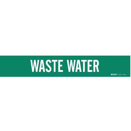 Pipe Marker, Waste Water, 2-1/2to7-7/8 In