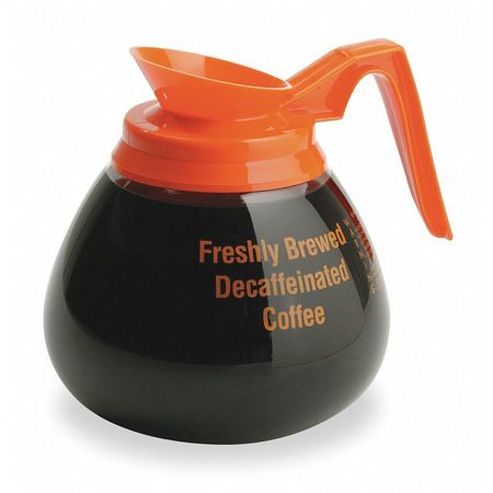 Orange Handle Coffee Decanter,  64 oz. Glass