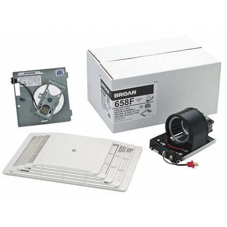 Bathroom Fan Finish Kit, 70 CFM, 11.9A