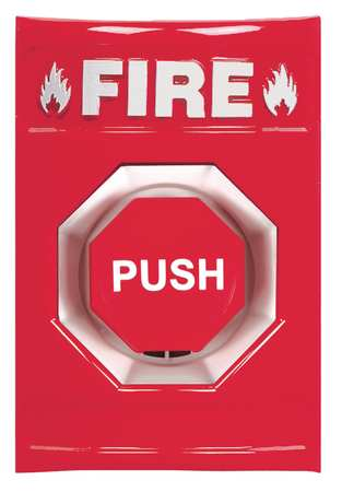 Fire Push Button, Red, ADA