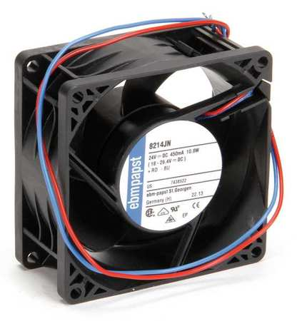 "3-1/7"" Square Axial Fan,  24VDC"