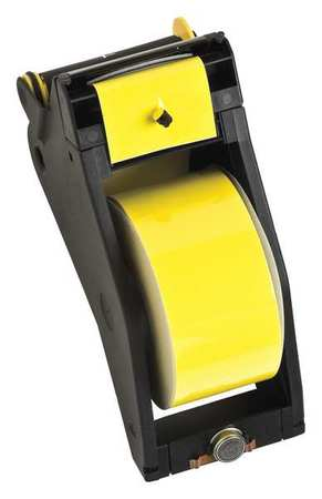 Tape, Black/Yellow, 90 ft. L, 2-1/4 In. W