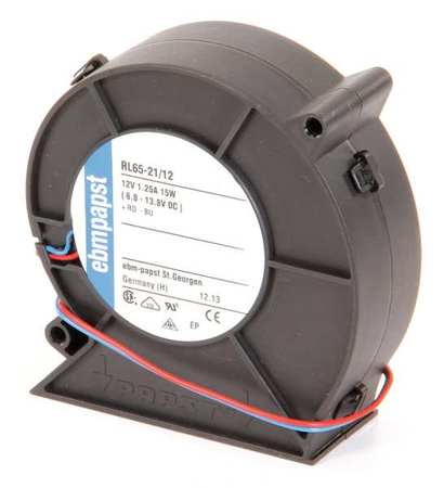 "3-5/8"" Square Flatpack Axial Fan,  12VDC"