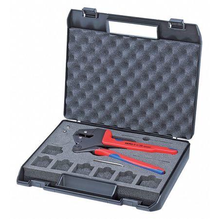 """8"""" Crimp System Pliers For Exchangeable Crimp Profiles,  Plastic Grip"""