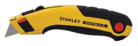 Utility Knife, 6-5/8 In., Black/Yellow
