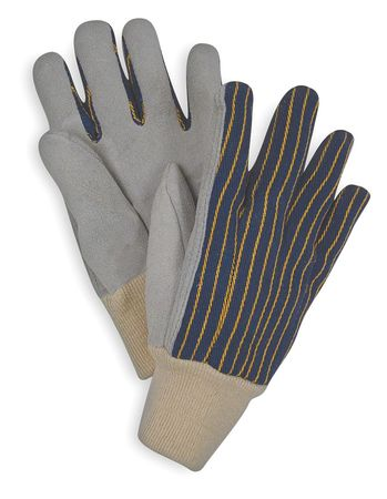 Leather Gloves, Blue/Gray, S, PR