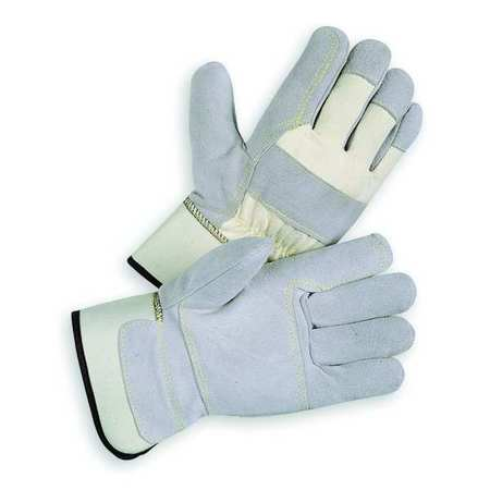Leather Gloves, Split/Double Palm, XL, PR