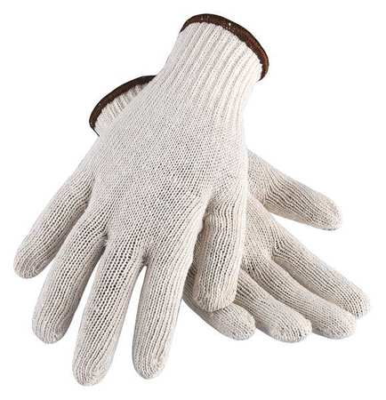 String Knit Gloves,  Polyester/Cotton,  White,  Small