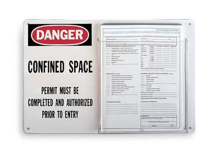 Tag Holder, 12X19, Confined Space Permit
