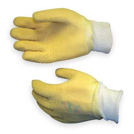 Cut Resist Gloves, S, White With Yellow, PR