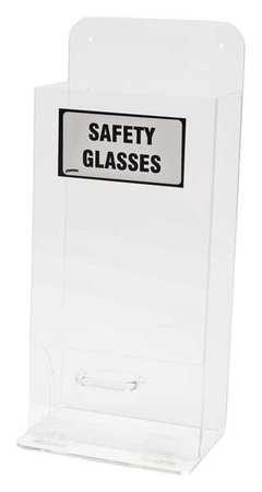 Prot Eyewear Disp, Stk, Clr, Acryl, Wall Mtg