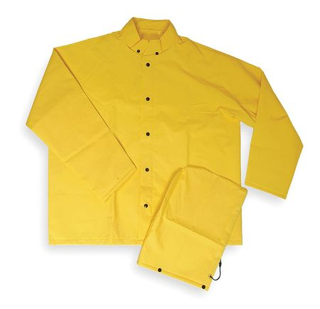 FR Rain Jacket/Detach Hood, Yellow, 2XL