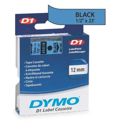 "Adhesive Label Tape Cartridge 1/2"" x 23 ft.,  Black/Blue"
