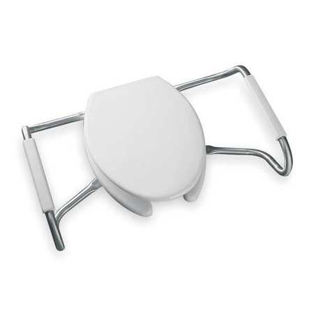"Medic-Aid(R) Toilet Seat,  Elongated 17-11/16"" Open Front,  With Cover"