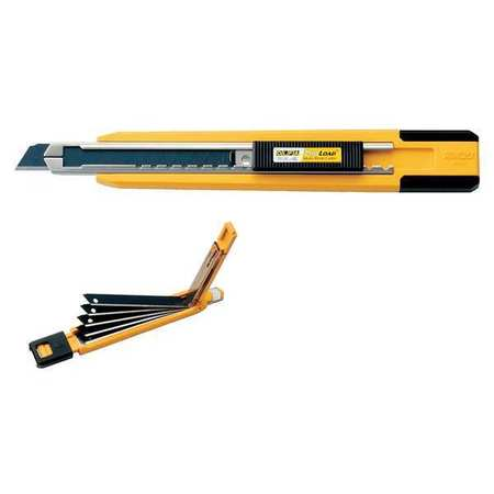 Utility Knife, 5 1/2 In, Yellow/Black