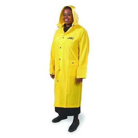 Raincoat with Detachable Hood, Yellow, 3XL