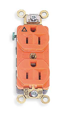 Hubbell Wiring Device Kellems 15a Duplex Receptacle 125vac 5 15r Or