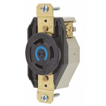 30A Locking Receptacle 2P 3W 250VAC L6-30R BK